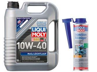 Olej Liqui Moly 10W40 MoS2 5L + Injection Reiniger!