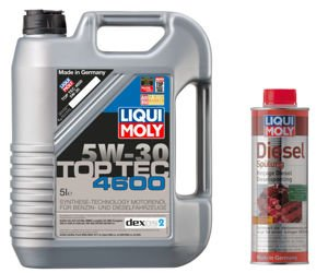 Olej Liqui Moly Top Tec 4600 5W30 5L + Diesel Spulung