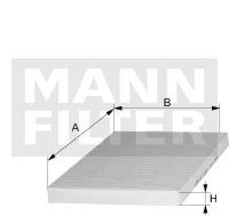 Filtr kabinowy MANN Audi A3